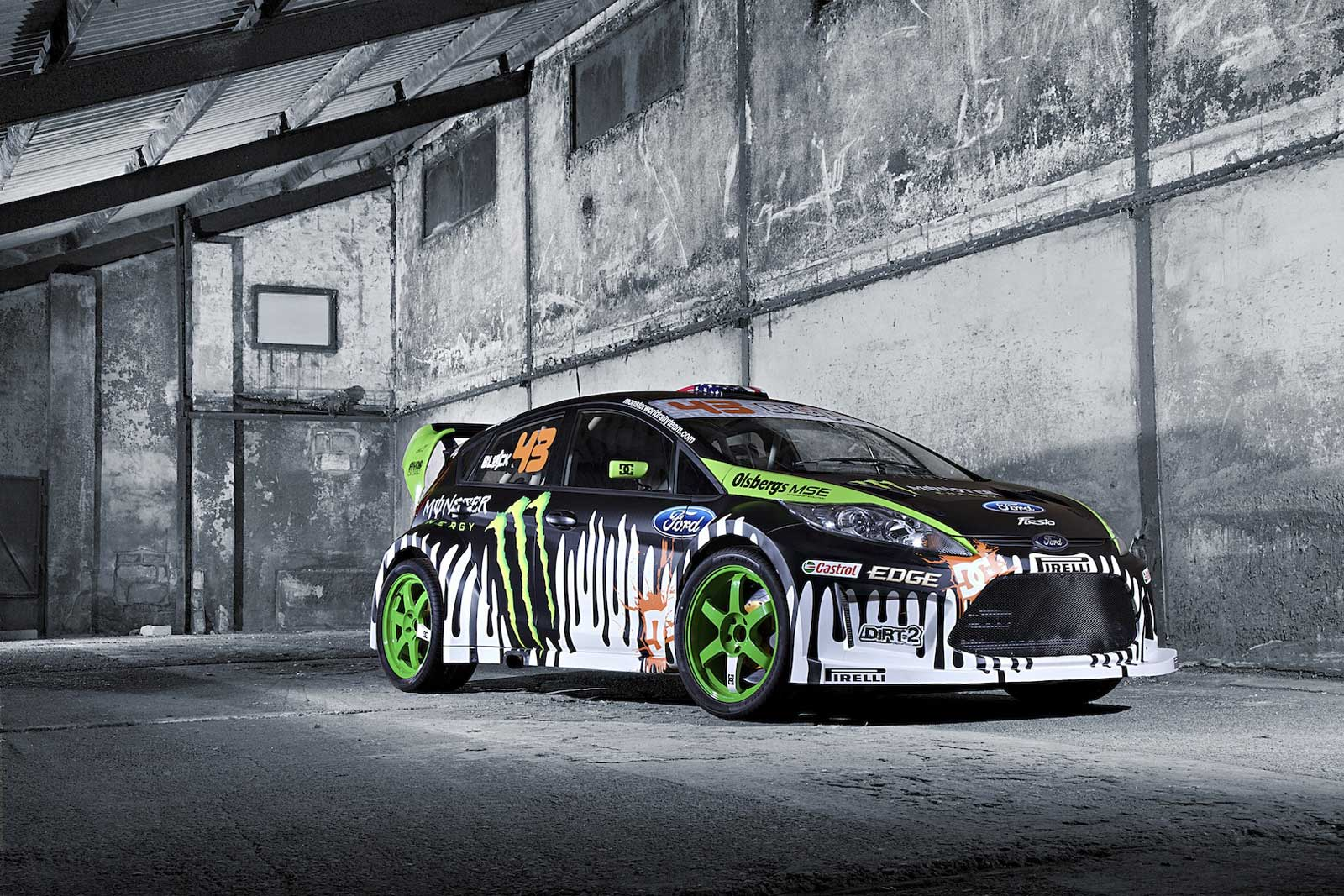 ken block and his ford fiesta in gymkhana 3 quite possibly the most